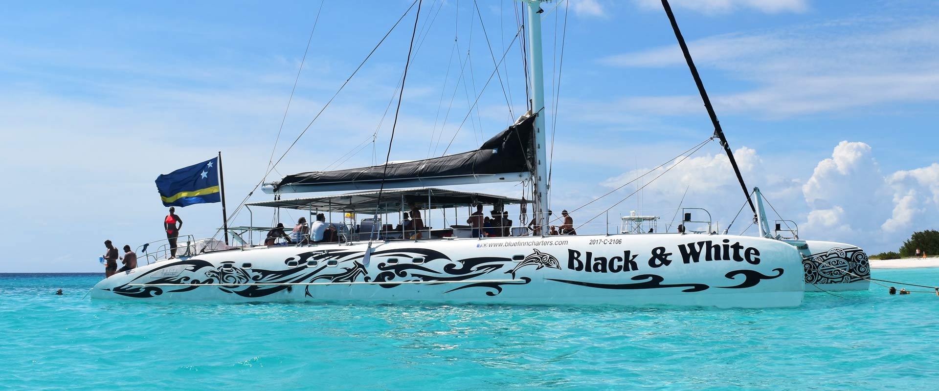 catamaran black & white klein curacao